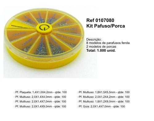 0107080 - Kit Parafuso 10x100=1000 Parafusos Round TL65A - Contém 1000 Peças