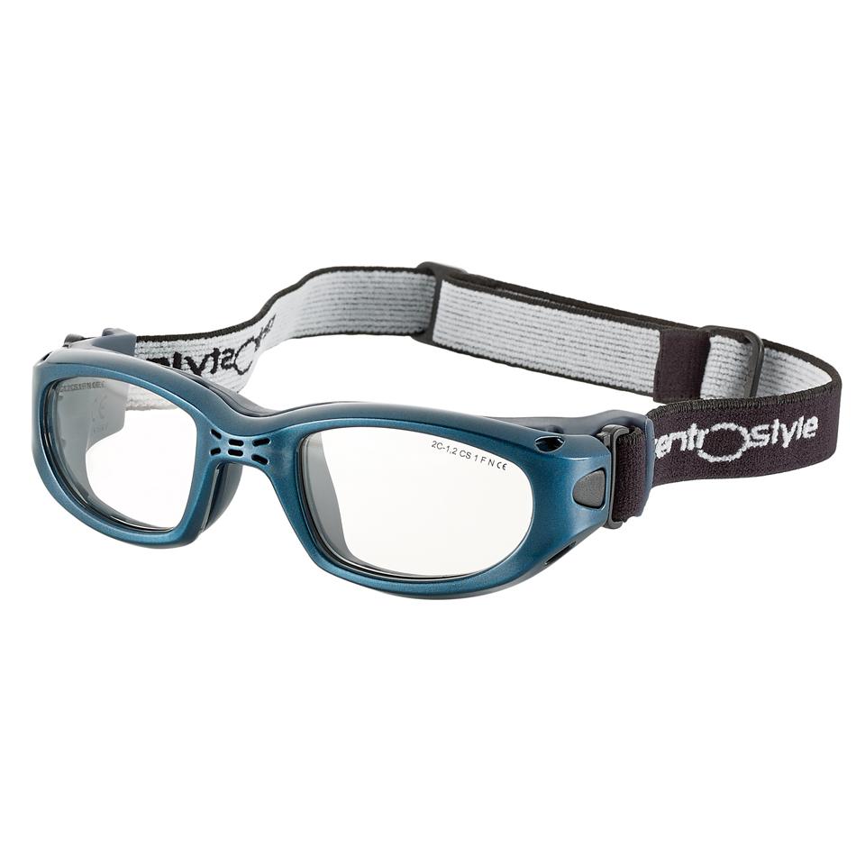 0213437 - Óculos Esporte Banda Elástica 55-23 Azul/Azul Mod 13437  -Contém 1 Peça