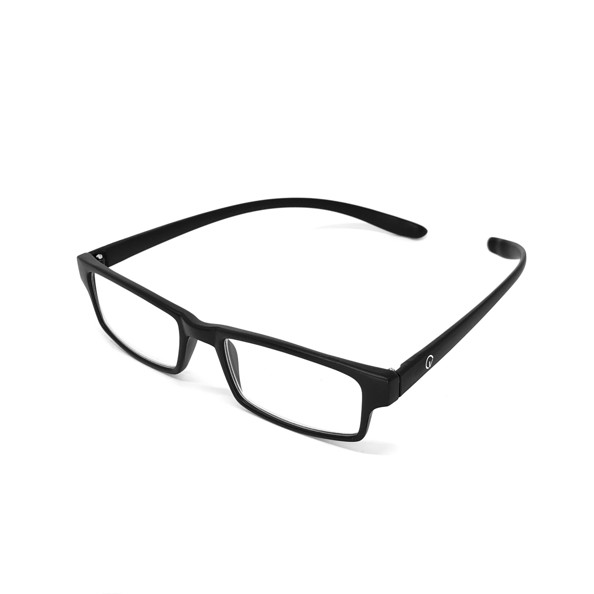 0869014-Óculos Leitura Retangular Preto +2,50 - Contém 1 Peça  - ENTREGA IMEDIATA